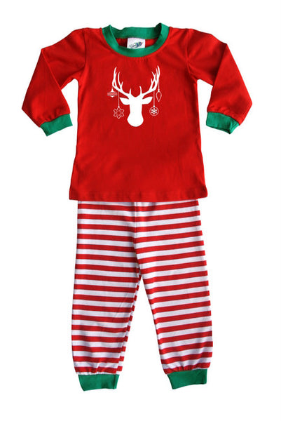 Holiday Decked Out Deer Silhouette Baby Pajama Set