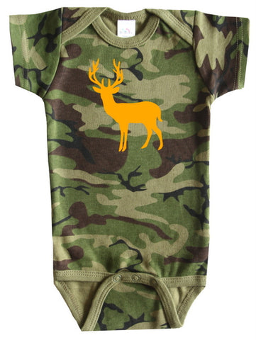Deer Silhouette Baby Bodysuit for Boys