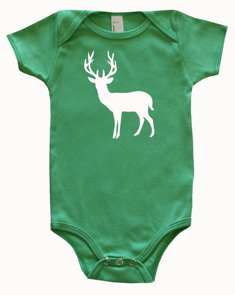 Farm Animal Silhouette Baby Bodysuit-Deer