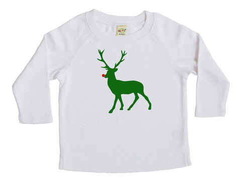 Holiday Red Nose Deer Baby and Toddler Shirt