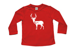 Holiday Deer with Scarf Baby and Toddler Shirt