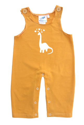 Dino Love Gender Neutral Baby and Toddler Overalls