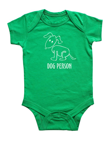 Dog Person Silhouette Baby Bodysuit