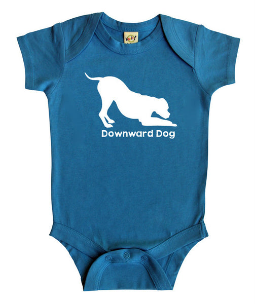 """Downward Dog"" Silhouette Baby Bodysuit"