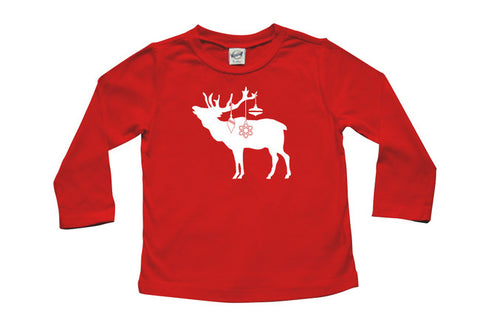 Festive Elk Long Sleeve T-shirt - Christmas