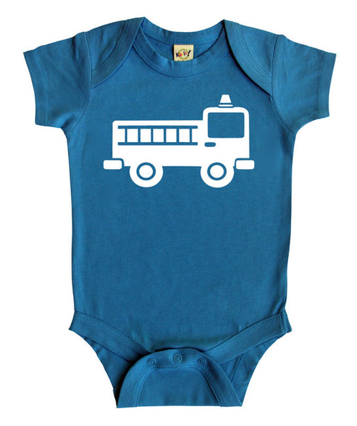 Transportation Silhouette Baby Bodysuit-Fire Engine