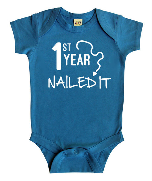 First Year Nailed It Baby Bodysuit
