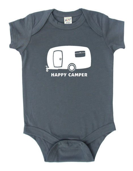 """Happy Camper"" Baby Bodysuit"