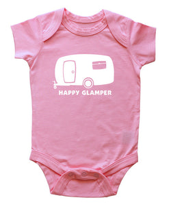 """Happy Glamper"" Baby Bodysuit"