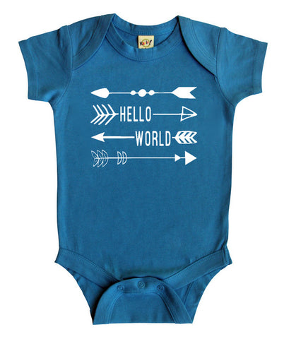 """Hello World"" Baby Bodysuit"