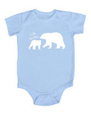 Little Brother with Big Bear Baby Bodysuit
