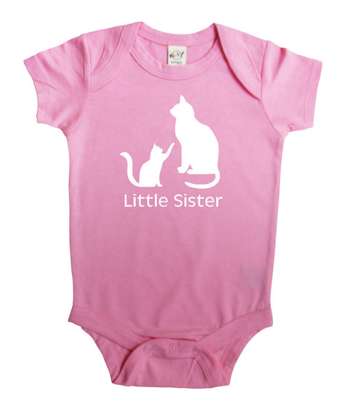 Little Sister Kitty Baby Bodysuit