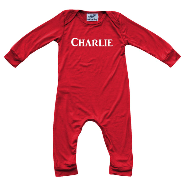 Personalized Silky Long Sleeve Baby Romper for Boys and Girls