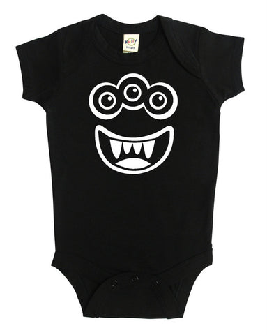 Silly Monster Silhouette Baby Bodysuit