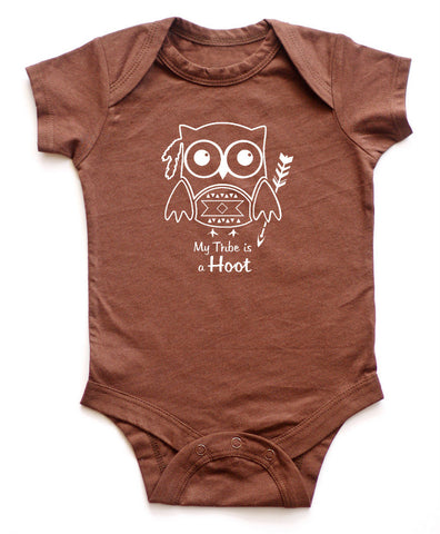 """My Tribe is a Hoot"" Baby Bodysuit"