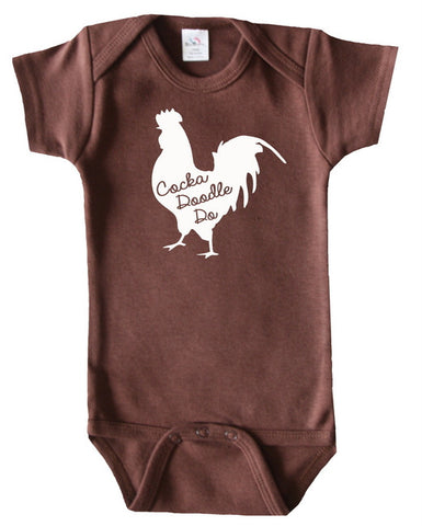 Farm Animal Silhouette Baby Bodysuit-Rooster