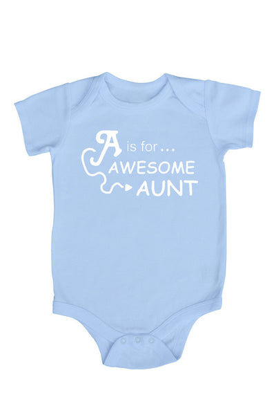 """A is for Awesome Aunt"" Baby Bodysuit"