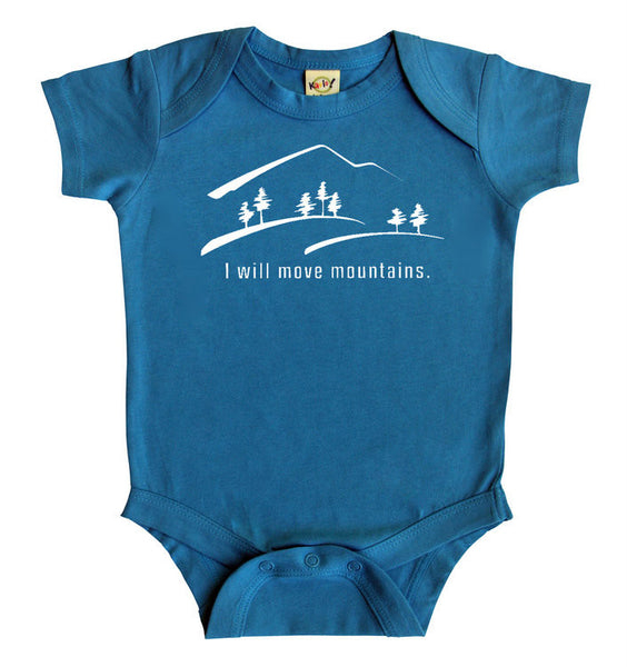 """Move Mountains"" Silhouette Baby Bodysuit"