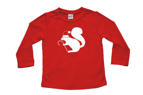 Santa Squirrel Long Sleeve T-shirt - Christmas