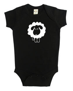 Counting Sheep Silhouette Baby Bodysuit