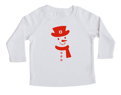 Holiday Christmas Snowman- Baby, Toddler, and Big Kids Long Sleeve T-Shirt