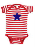 Star Baby Bodysuit for July 4th