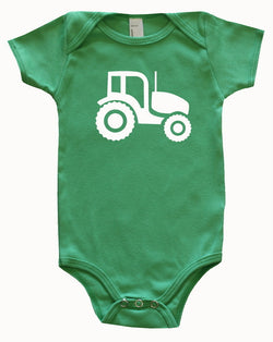 Farm Animal Silhouette Baby Bodysuit-Tractor
