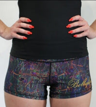 "NEON SEA SPLASH 3"" BOOTY SHORT"