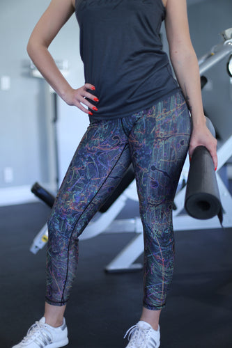 NEON SEA SPLASH FULL LEGGING