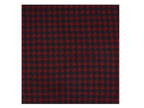 Navy Red Houndstooth Pocket Square