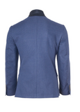 Ashton Peak Jacket - Navy & Grey Jacquard