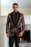 Blazing Roses Fuchsia & Gold Metallic Woven Sport Coat Jacket