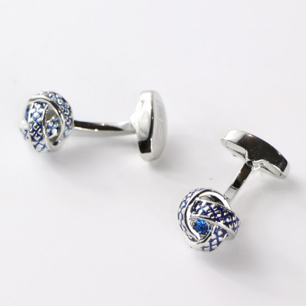 Knotted Crystal Cufflinks