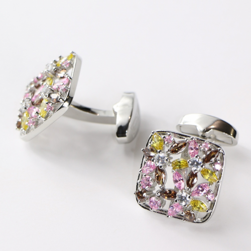 Floral Jeweled Cufflinks
