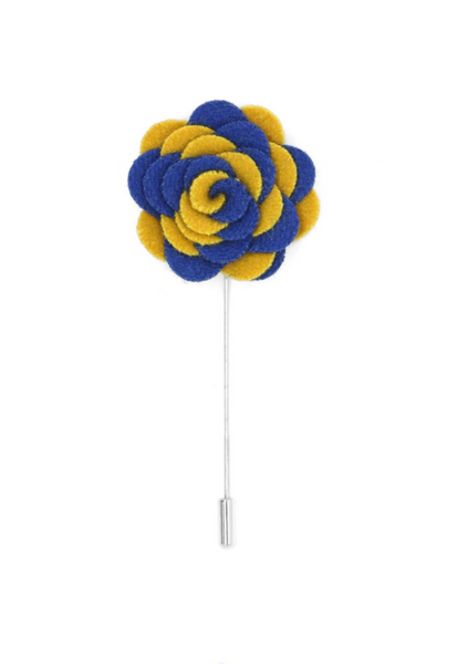 Florance Royal Blue & Yellow Lapel Pin