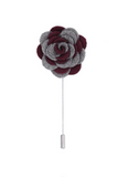 Florance Grey Burgundy Lapel Pin