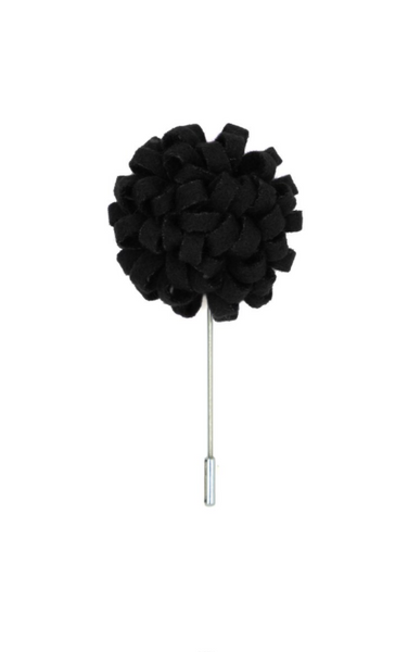 Manzu Black Lapel Pin