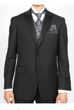 Mens Black Silver Vest Set