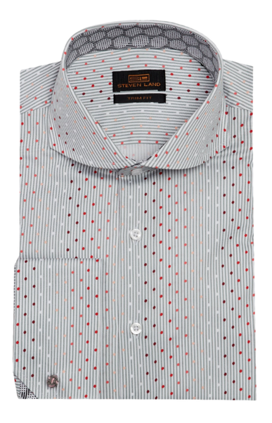 Striped Dot Dress Shirt