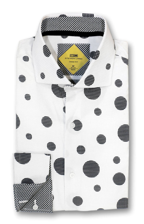 Bold Dot Dress Shirt