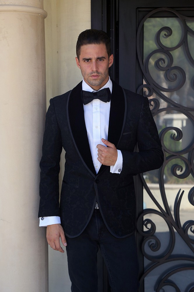 Black Lace Sport Coat Jacket