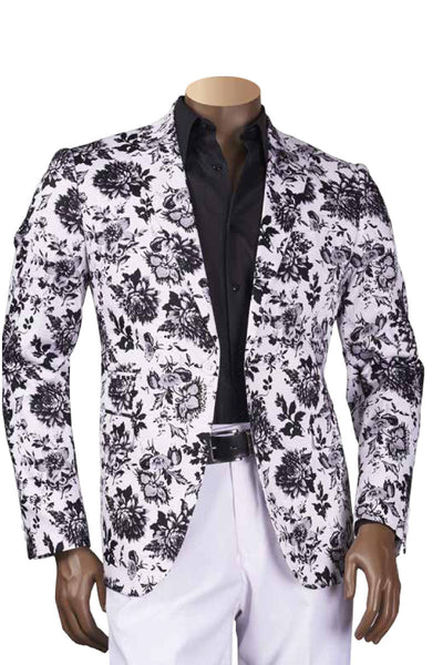 French Floral Print Jacket