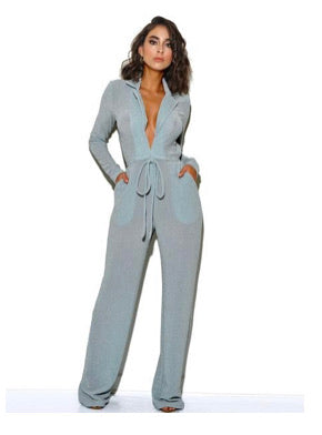 Fly Girl Jumpsuit- Ice Blue