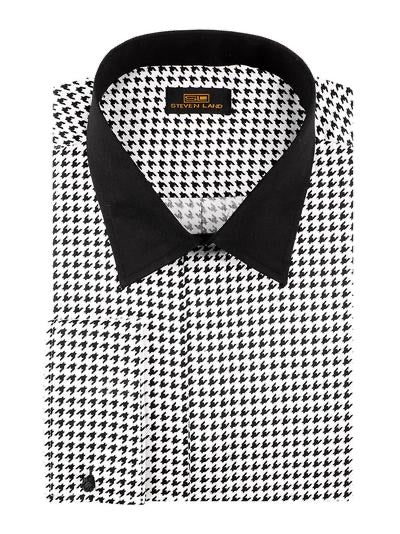 Houndstooth Collar Shirt