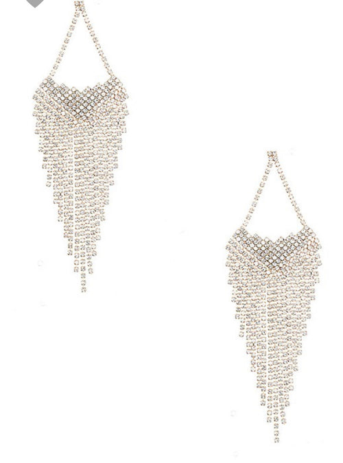 Diamond Fringe Earrings