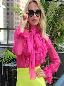 Flamingo City Blouse