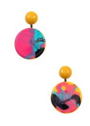Round Drop Earring