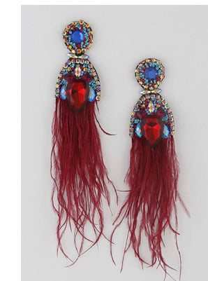 Feathered Stone Earrings