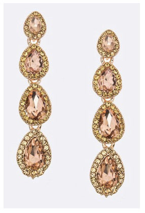 Crystal Tear Drop Earringd