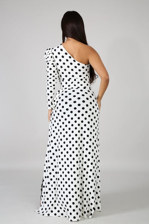 Be Fierce Top- Polka Dots